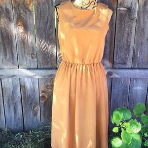 Asos gold midi dress size 8